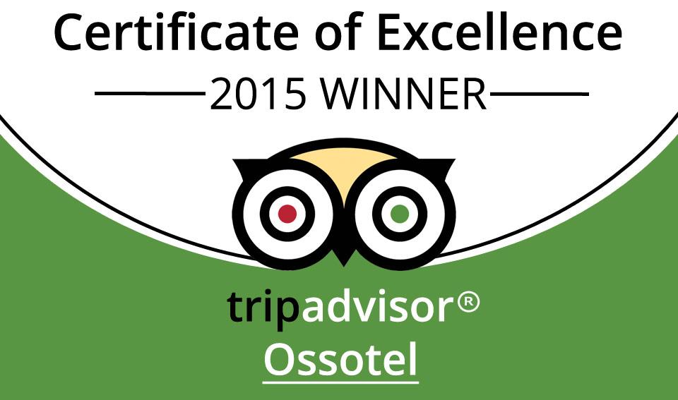 Ossotel Legian Tripadvisor Certificate of Excellence